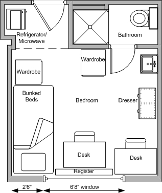 Typical Floor Plan. Bradley Hall   Residence Halls   University Housing