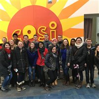 Pharmacy House students at COSI.