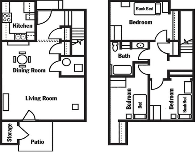 ati floor plans   living on campus