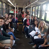 SLIC students on a group trip.