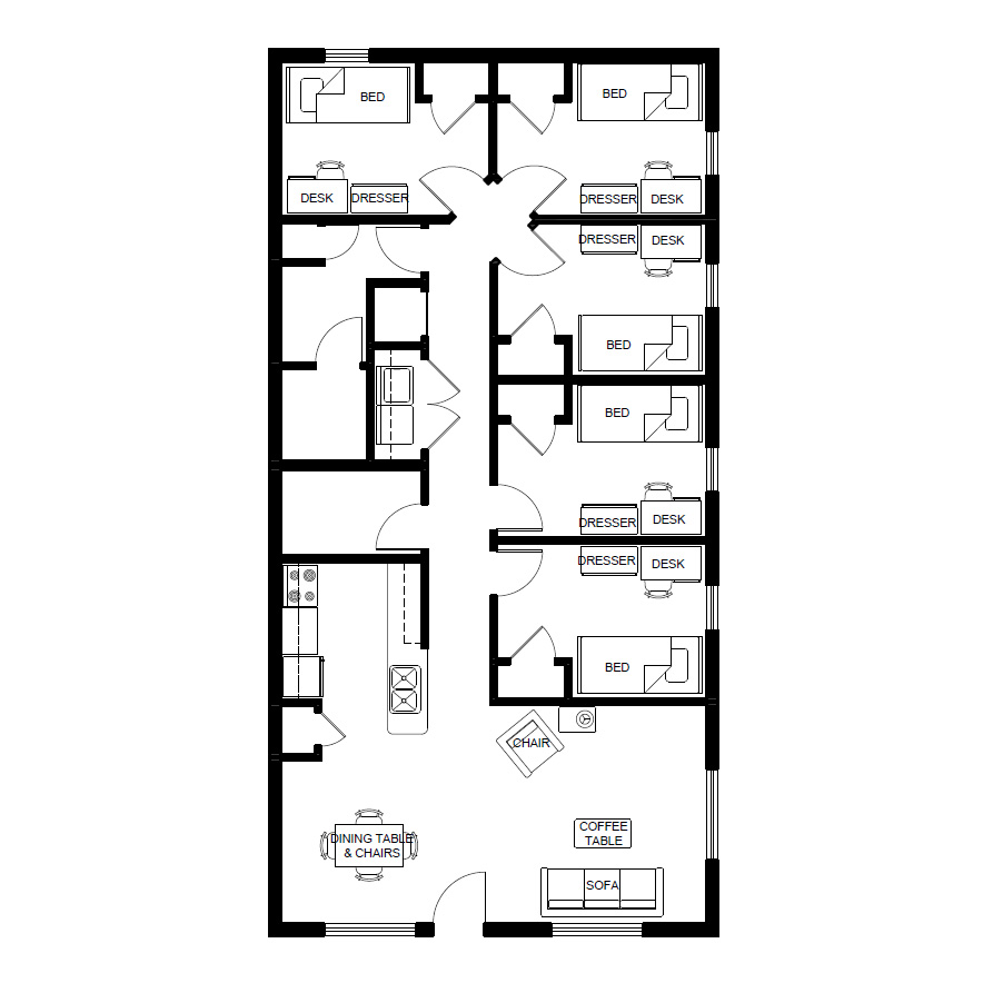 Mansfield floor plans living on campus for Country plans com