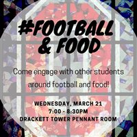 #football and food March event