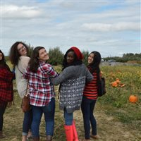 FYC students at a pumpkin patch