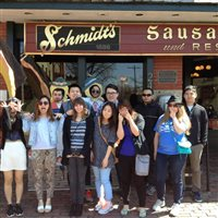 I-House students at Schmidt's in German Village