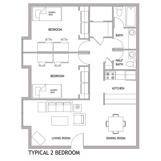 2 Bedroom For 4 Students Part 84