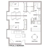 2-bedroom for 4 students