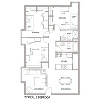 3-bedroom for 6 students