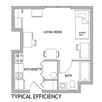 1-bedroom for 2 students